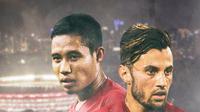 Timnas Indonesia - Stefano Lilipaly dan Evan Dimas (Bola.com/Adreanus Titus)