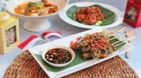 Semarakkan Kemerdekaan RI ke 73 dengan sajian kuliner nusantara dan pameran budaya di Shangri-La Hotel, Jakarta (Liputan6/pool/Shangri-La Jakarta)