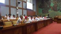 Jajaran Kemenpora saat melakukan rapat kerja dengan Komisi X DPR RI, Kamis (6/9/2018) di Ruang Nusantara I Gedung DPR.