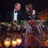Kate Middleton memakai gaun renda hitam Alexander McQueen (Foto: Instagram @kensingtonroyal)