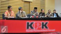 KPK menggelar konferensi pers terkait rencana revisi UU No.30 th 2002 tentang KPK, Jakarta, Rabu (7/10/2015). KPK menolak tegas rencana revisi UU tersebut karena akan melemahkan KPK. (Liputan6.com/Andrian M Tunay)
