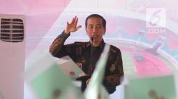 Presiden Joko Widodo memberikan sambutan saat pembagian sertifikat tanah di kawasan Stadion Pakansari, Cibinong, Bogor, Selasa (25/9). Ada 7.000 sertifikat tanah yang dibagikan kepada masyarakat kabupaten dan kota Bogor. (Merdeka.com/Arie Basuki)