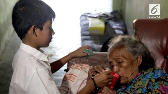 Seorang bocah berusia 7 tahun terpaksa merawat neneknya yang sakit-sakitan. Ia hanya tinggal berdua dengan sang nenek setelah kedua orang tuanya tiada.