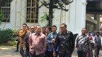 Paguyuban warga pendatang Papua di terima Presiden Jokowi di Istana Kepresidenan Jakarta. (Liputan6.com/Lizsa Egeham)