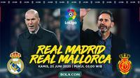La Liga - Real Madrid Vs Real Mallorca - Head to Head Pelatih (Bola.com/Adreansu Titus)