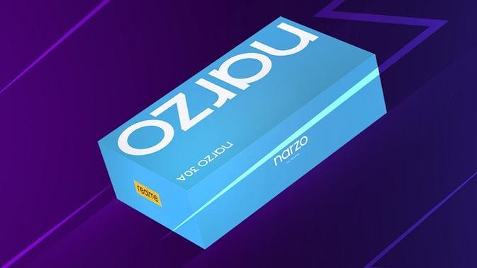 Kotak penjualan Realme Narzo 30A yang akan diperkenalkan di Indonesia. (Foto: Realme Indonesia)