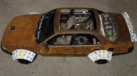 Toyota Camry Karat dengan Fender dari Pelat Nomor (Carscoops)
