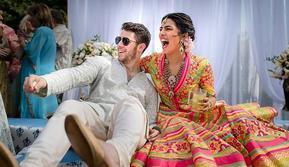 Nick Jonas dan Priyanka Chopra  (Foto: Handout / RAINDROP MEDIA / AFP)