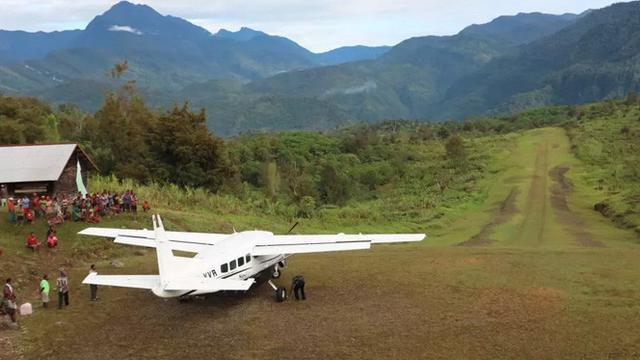 Landasan pesawat kecil di Puldama