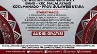 Audisi LIDA 2020 digelar di Manado, Sulawesi Utara, Sabtu (2/11/2019) disambut meriah