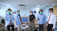 Menpora Zainudin Amali menerima Dewan Pimpinan Pusat Mahasiswa Pancasila (DPP Mapancas), di Ruang Kerja Lantai 10 Graha Pemuda Senayan Jakarta Pusat, Rabu (8/7). (Foto:Kemenpora).