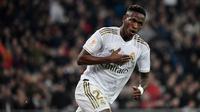 1. Vinicius Junior (Real Madrid) - Pemain berusia 19 tahun ini memiliki nilai transfer yang dapat dibilang cukup fantastis. Market value Vinicius Junior saat ini mencapai 50 juta euro. (AFP/Javier Soriano)