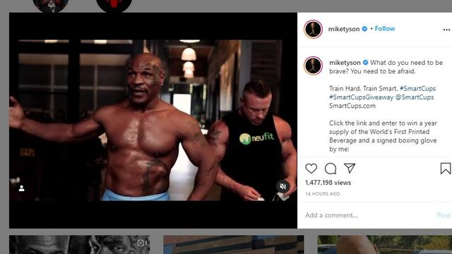 Mike Tyson terus mempersiapkan diri menghadapi duel amal melawan Roy Jones Jr