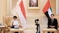 Menlu RI Retno Marsudi dan Menteri BUMN Erick Thohir memberikan pengarahan pers terkait kunjungan bilateral ke Uni Emirat Arab (22/8/2020). Keduanya membahas berbagai kerja sama Indonesia-UEA, mulai dari penanganan COVID-19 hingga ekonomi (DIREKTORAT INFOMED KEMLU RI).