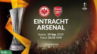 Liga Europa - Eintracht Frankfurt Vs Arsenal (Bola.com/Adreanus Titus)