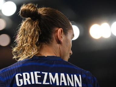 Antoine Griezmann dkk gagal memetik kemenangan dari tamunya, Bosnia pada laga grup D kualifikasi Piala Dunia 2022 zona Eropa. Laga tersebut berakhir dengan skor satu sama. (Foto: AFP/Franck Fife)