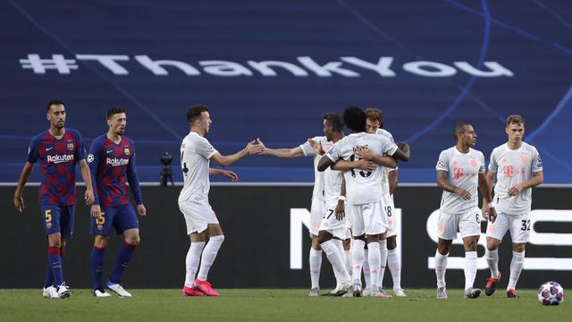 Bantai Barcelona 8 Gol, Bayern Munchen ke Semifinal Liga Champions