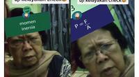 Seorang nenek berhasil menebak rumus fisika. Sumber: TikTok/Nintaumain