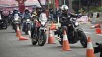 Puluhan pemilik Honda Big Bike dari berbagai tipe ikut dalam pelatihan safety riding di Wahana Safety Riding Center Jatake, Tangerang. (ist)