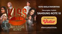 Ayo, Voting Idola Favorit Kamu di Kiss Awards 2020 Sekarang! Menangkan Samsung Galaxy Note 10. (Sumber : Dok. vidio.com)