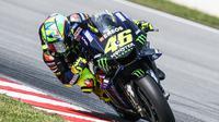 Valentino Rossi belum maksimal di tes MotoGP Qatar (AFP)