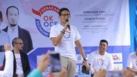 DPRD DKI Jakarta, Rendhika D Harsono (kanan), mengapresiasi Gerakan Ekonomi Kerakyatan atau (Gerak OKE OCE) yang digagas oleh Calon Wakil Presiden nomor urut 2 Sandiaga Uno (tengah).(istimewa)