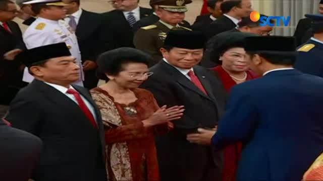 Rabu (17/1) pagi, Presiden Joko Widodo melantik Yuyu Sutisna, Moeldoko, Agum Gumelar, dan Idrus Marham di Istana Negara Jakarta.