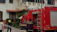 KBRI Bangkok kebakaran. (AP)