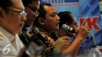 """Ketua DPP Nasdem Taufik Basari saat menghadiri diskusi bertajuk """"Setahun Nawacita Jokowi"""" Jakarta, Sabtu, (17/10). (Liputan6.com/Johan Tallo)"""