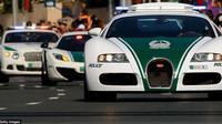 Bugatti Veyron yang dinobatkan sebagai mobil polisi tercepat di dunia. (AFP)
