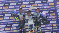 Aldi Satya (tengah) saat meraih juara di Yamaha Sunday Race (dok: Yamaha)