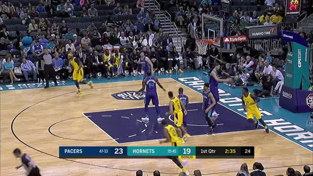 Berita video game recap NBA 2017-2018 antara Indiana Pacers melawan Charlotte Horntes dengan skor 123-117.