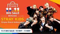 Stray Kids akan tampil dalam acara Shopee Big Sale 11.11 pada 11 November 2020 di lima stasiun TV (Dok. Shopee Indonesia)