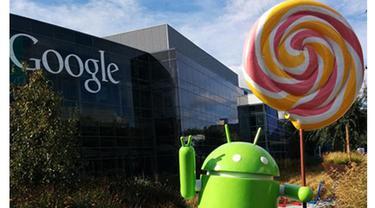 Patung Android Lollipop Hiasi Halaman Kantor Google