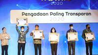 Kementerian Pertanian (Kementan) mendapat penghargaan Pengelolaan Barang dan Jasa 2020 dengan kategori paling transparan. Dok Kementan