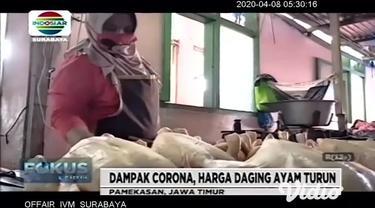 Harga daging ayam di pasar Pamekasan, Jawa Timur mengalami penurunan selama beberapa hari terakhir, turunnya harga daging ayam tersebut disebabkan karena pemasok ayam menumpuk dan banyak warung yang jam operasionalnya dibatasi atau bahkan ada yang tu...