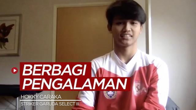 Berita video striker Garuda Select III, Hokky Caraka, berbagi pengalaman berharganya saat menghadapi tim Inggris, Port Vale U-18.