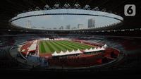 Suasana Stadion Utama Gelora Bung Karno (GBK) saat pelaksanaan vaksinasi covid-19 bagi anak di Senayan, Jakarta, Sabtu (3/7/2021). Pemprov DKI menggelar vaksinasi massal bagi anak usia 12-17 tahun di Stadion GBK selama dua hari, yakni pada 3-4 Juli 2021. (merdeka.com/Imam Buhori)