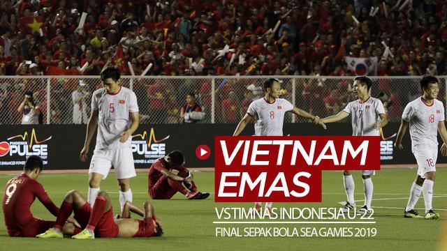 Berita video highlights final sepak bola putra SEA Games 2019 antara Timnas Indonesia U-22 melawan Vietnam yang berakhir dengan skor 0-3, Selasa (10/12/2019).