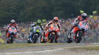 Dorna Sports mengancam akan mencoret seri MotoGP Brno pada kalender 2021 yang karena belum memperbaharui kontrak. (AFP/Michal Cizek)