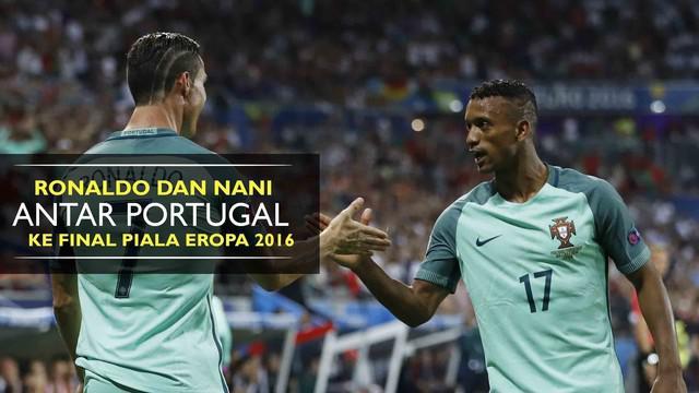 Portugal berhasil menang 2-0 atas Wales berkat gol Cristiano Ronaldo dan Luis Nani. Selecao berhak maju ke babak final Piala Eropa 2016
