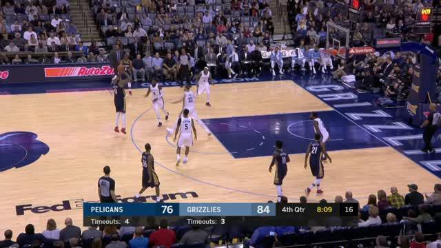 Berita video game recap NBA 2017-2018 antara Memphis Grizzlies melawan New Orleans Pelicans dengan skor 105-102.