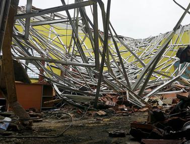 Kondisi MAN 2 Malang yang Rusak Berat Diguncang Gempa
