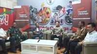 Menpora Zainudin Amali hadir pada penandatangan MoU pemberian dana bantuan persiapan cabor tinju, taekwondo, dan menembak pada Olimpiade Tokyo 2020. (Dok. Kemenpora)