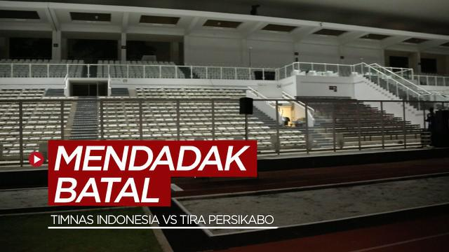 Berita video Timnas Indonesia proyeksi SEA Games mendadak batal menghadapi Tira Persikabo karena tidak mendapat izin dari pihak Kepolisian, Rabu (3/3/2021) malam hari WIB.