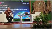 Webinar New Visa Policy Challenges and Oppotunities for Tourism in the New Normal yang digelar Kemenparekraf/Baparekraf secara daring, Rabu (25/11/2020). (Ist)