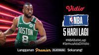 Laga perdana NBA bisa disaksikan lewat aplikasi dan situs streaming Vidio.