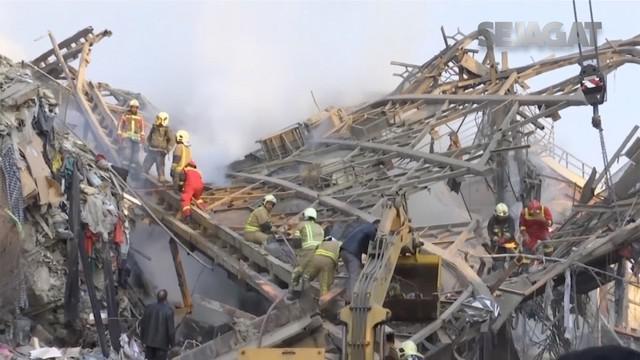 Donal Trump lakukan beberapa kegiatan sebelum pelantikan. Kobaran api hanguskan sebuah bangunan di Teheran, Iran.