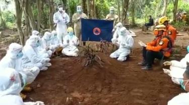 Relawan tim pemakaman Covid-19 BPBD Banyumas, Ari Juniyanto, meninggal terpapar Covid-19. (Foto: Liputan6.com/BPBD Banyumas)