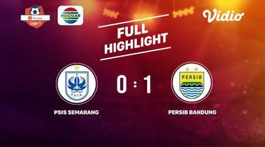 Laga lanjutan Shopee Liga 1, Psis Semarang VS Persib Bandung berakhir  0-1 #shopeeliga1 #Psis Semarang #Persib Bandung
